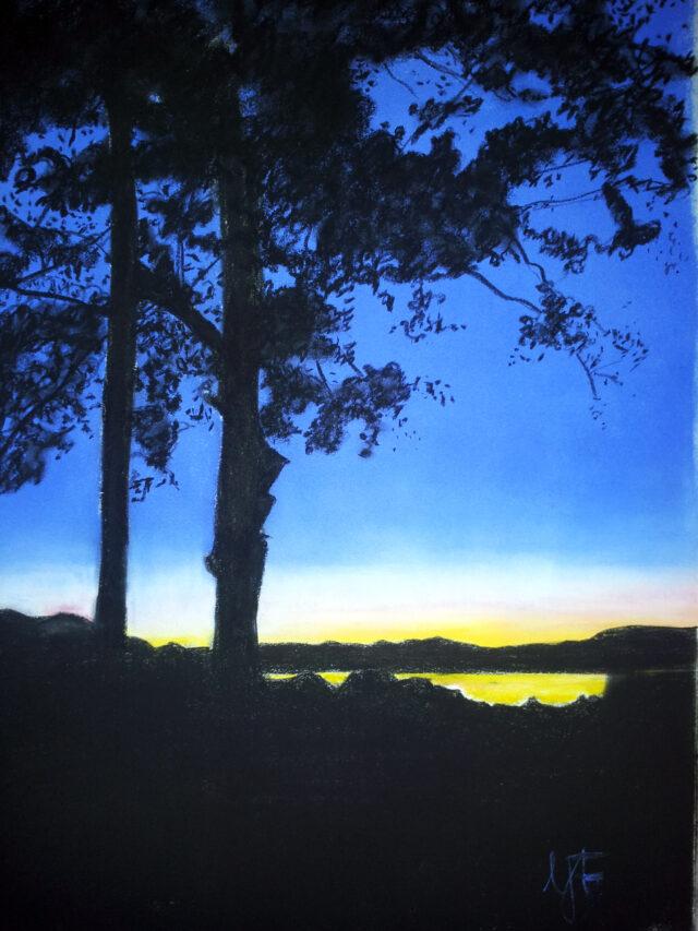 Julikveld i Hellandsfjorden