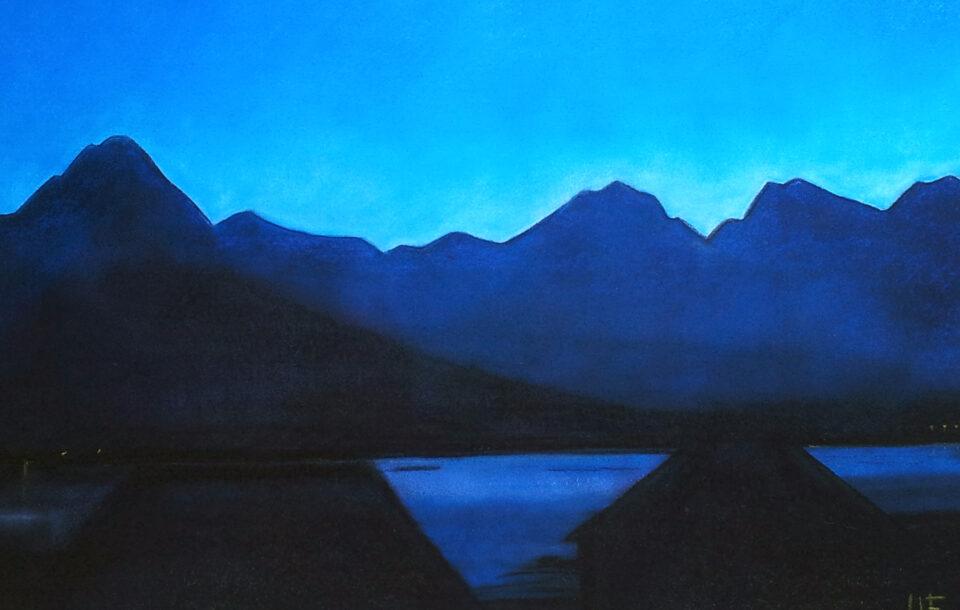 Lofotenfjell, ein aprilkveld